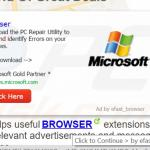 eFast Browser generating intrusive pop-up ads (sample 1)