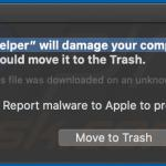 helper Will Damage Your Computer. You Should Move It To The Trash.