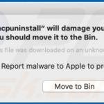 mcpuninstall Will Damage Your Computer. You Should Move It To The Trash.