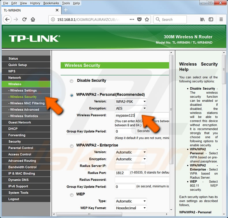 find your wi-fi password tp link tl-wr540n router step 2