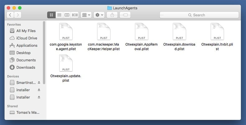 removing adware from ~launch agents folder step 2