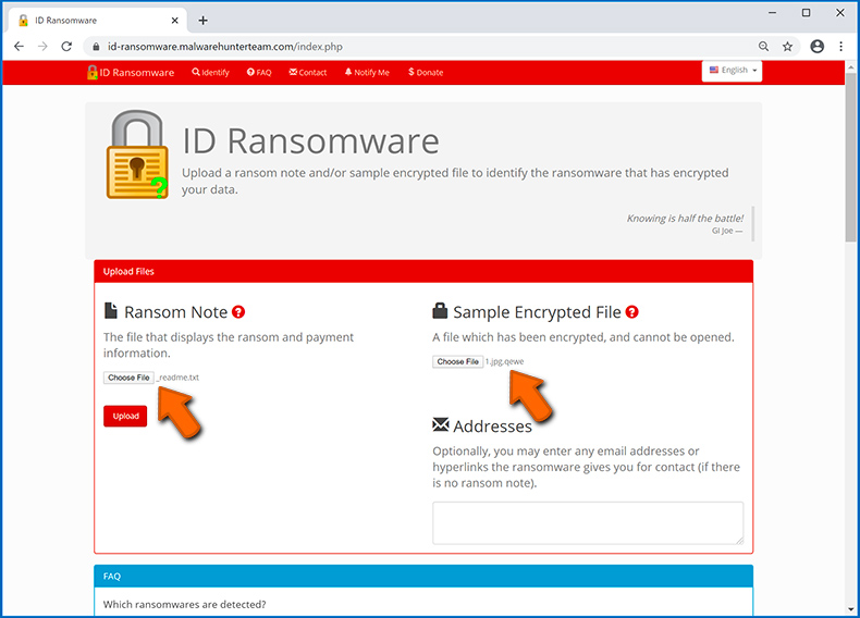 Identify ransomware-type infection (step 3)