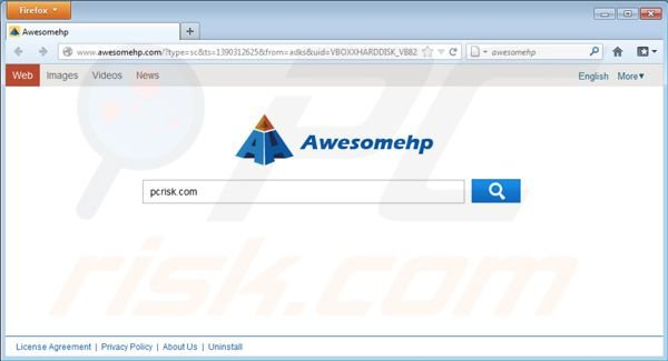 Wirus Awesomehp.com