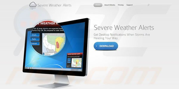 Adware Severe Weather Alerts
