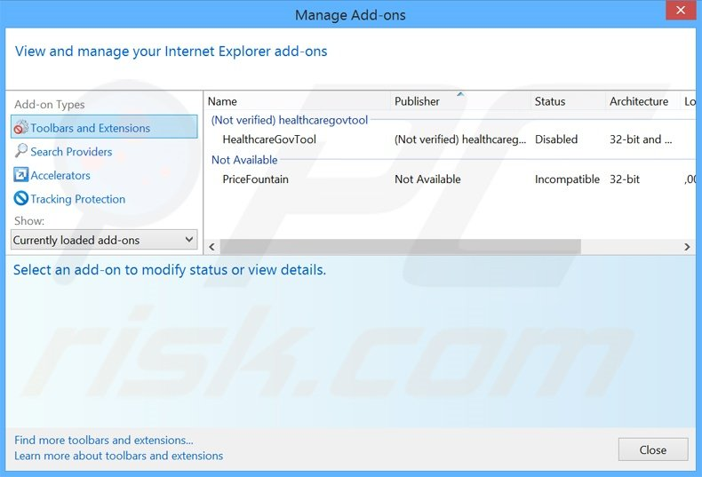 Removing safebrowsesearch.com related Internet Explorer extensions