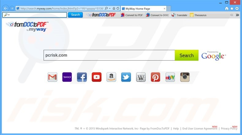 search.myway.com browser hijacker