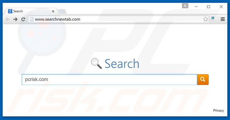 Searchnewtab,com browser hijacker