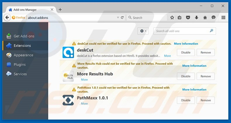 Removing Junk Cleaner ads from Mozilla Firefox step 2