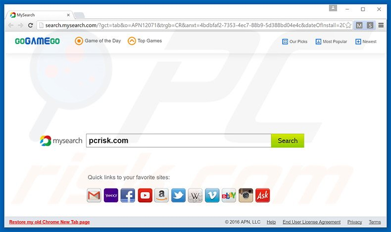 search.mysearch.com browser hijacker