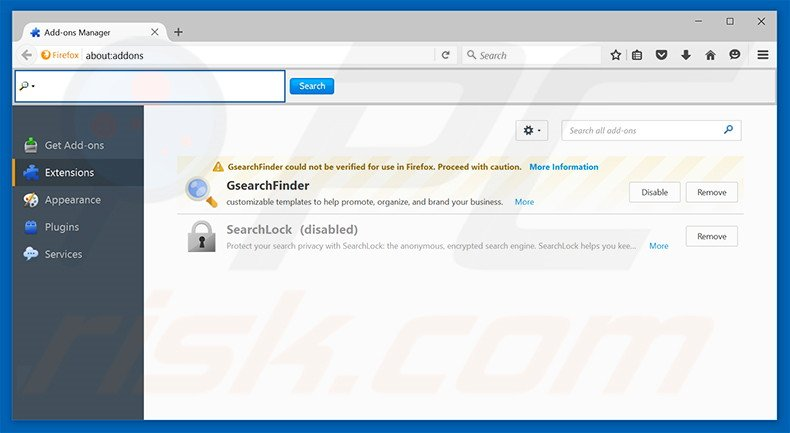 Removing trotux.com related Mozilla Firefox extensions