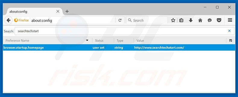 Removing searchtechstart.com from Mozilla Firefox default search engine