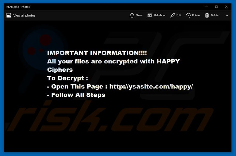 HappyLocker decrypt instructions