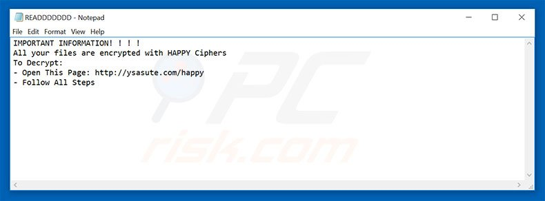 HappyLocker text file