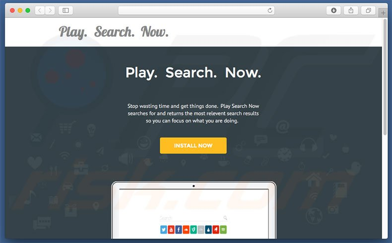 Dubious website used to promote search.playsearchnow.com