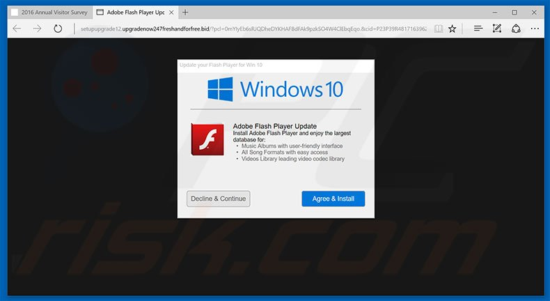 Adobe Flash Player Update adware