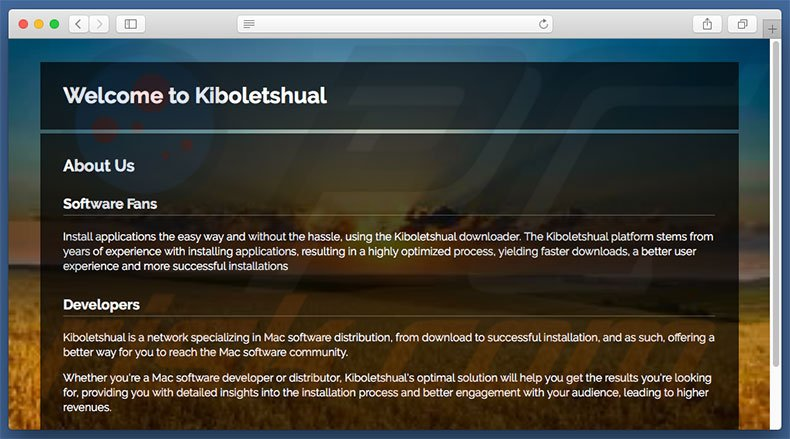 Dubious website used to promote search.kiboletshual.com