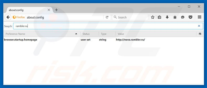 Removing rambler.ru from Mozilla Firefox default search engine