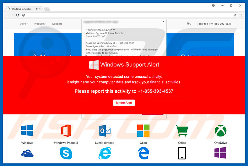 Windows Support Alert adware