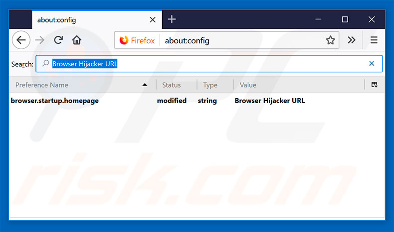 Removing browser hijacker from Mozilla Firefox default search engine