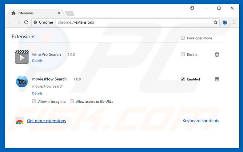 Removing Firefox Requires A Manual Update ads from Google Chrome step 2