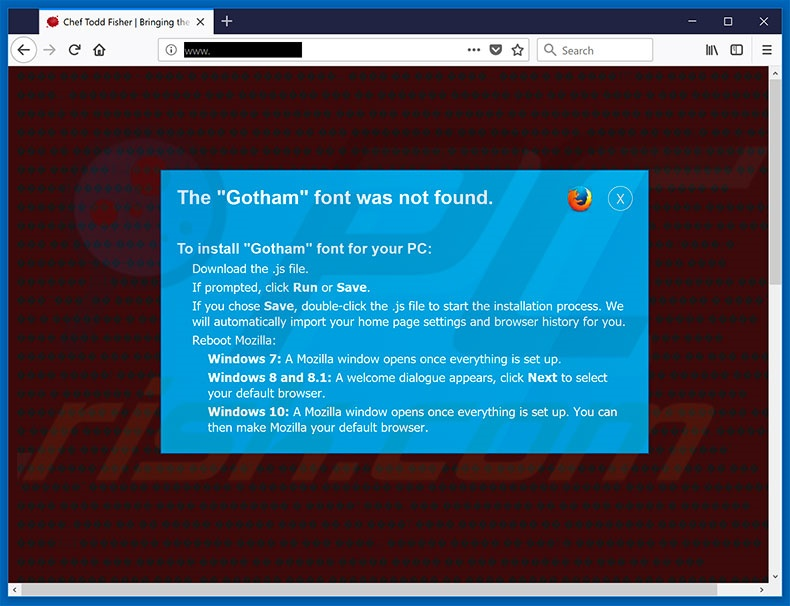 The Gotham Font Was Not Found Mozilla Firefox Step 2