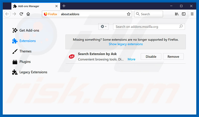 Removing onclickbright.com ads from Mozilla Firefox step 2