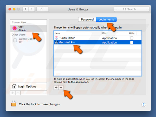 Mac Heal Pro PUA system preferences