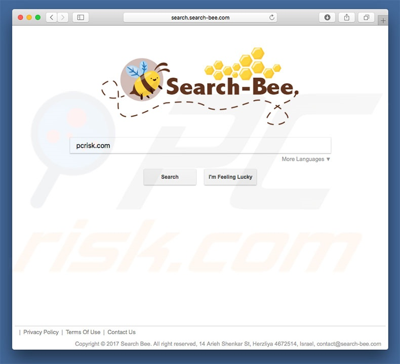 search.search-bee.com browser hijacker on a Mac computer