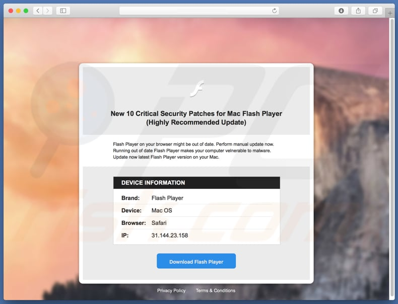 10 Critical Security Patches For Mac Flash Player scam