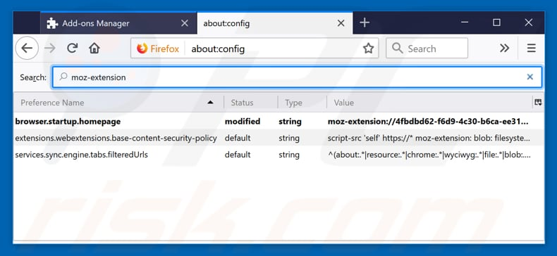 Removing search.searchm3w1.com from Mozilla Firefox default search engine