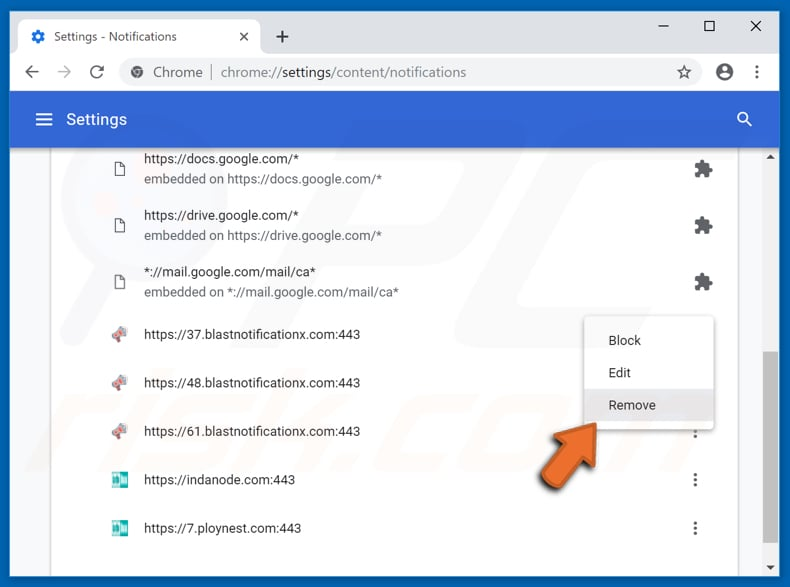 Disable pop-up' notifications in Google Chrome web browser