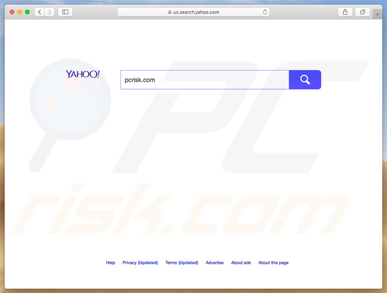Top Results causing redirects to Yahoo search engine