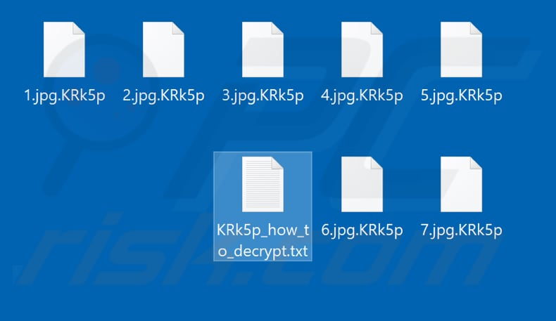 Files encrypted by IS