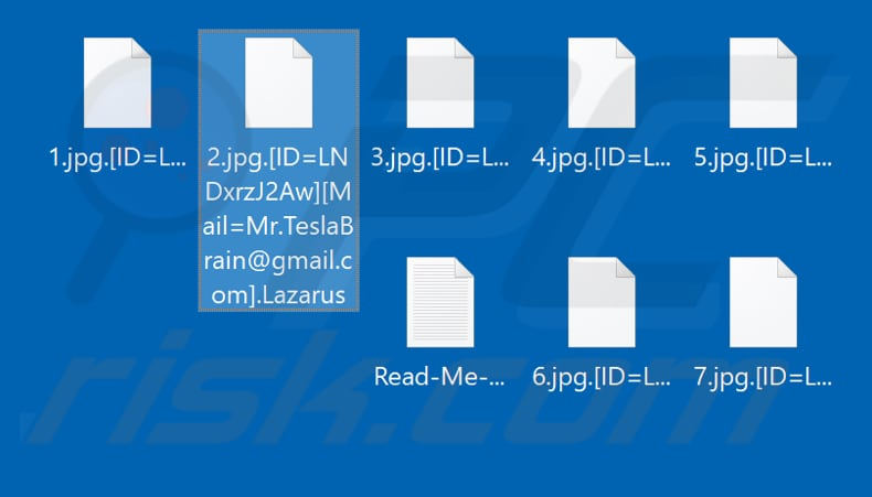 Files encrypted by Lazarus