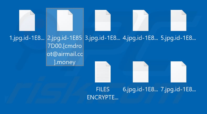 Files encrypted by Money