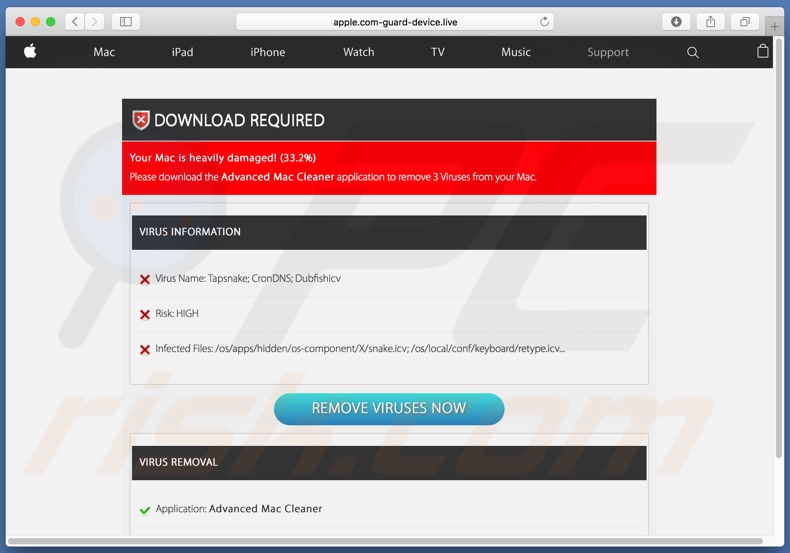 Apple.com-guard-device[.]live scan results