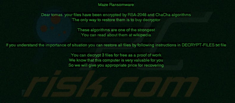 Maze decrypt instructions