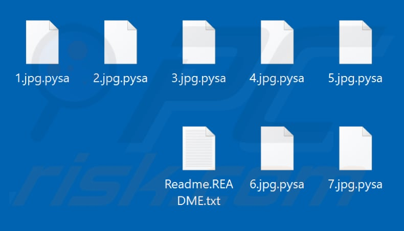 Files encrypted by Pysa ransomware (.pysa extension)