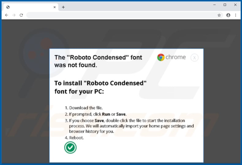 zloader malware malicious page offers to download a font that installs ZLoader