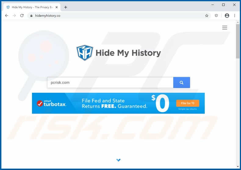 hidemyhistory.co browser hijacker