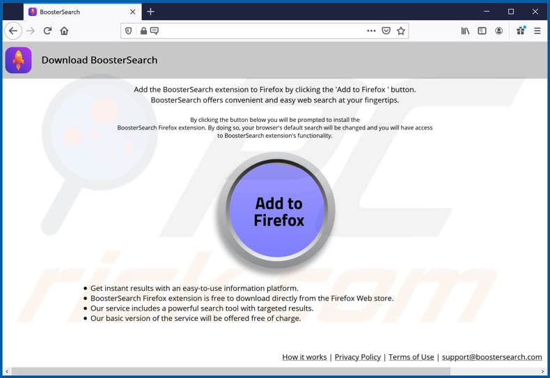 booster search browser hijacker promoter