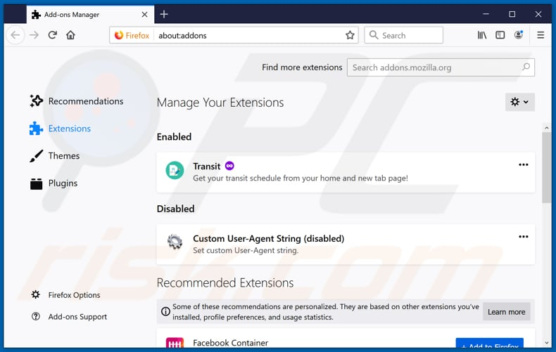 Removing Easy File Convert Promos ads from Mozilla Firefox step 2