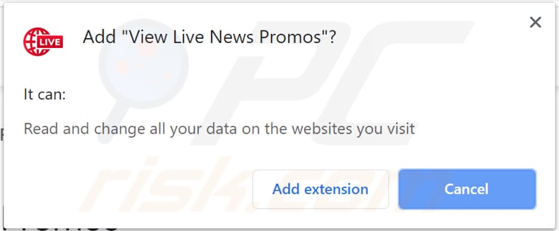 view live news promos adware asks for a permission to be installed