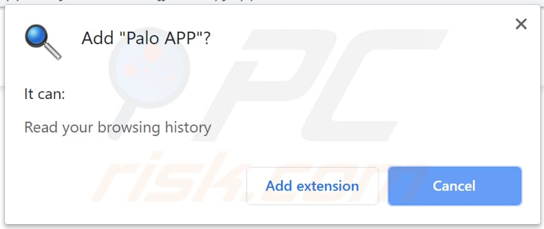 Palo APP asks for a permission to be installed